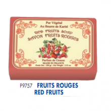 Мыло в бумажной упаковке с фруктовым ароматом. 12 штук в картонной коробке. Р9757