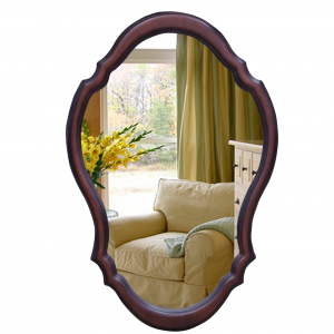 Зеркало в фигурном багете 302