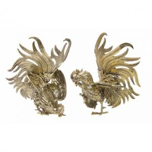 Фигурки петухов (комплект из двух штук) BRZ.90.1318