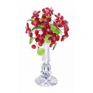 Цветок хрустальный со стразами CNA04002/22 RED