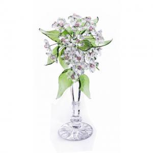 Цветок хрустальный со стразами CNA07001T/30 Сr ros